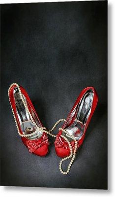 Red Shoes Metal Print by Joana Kruse