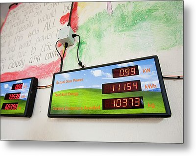 Renewable Energy Readouts Metal Print by Ashley Cooper