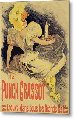Reproduction Of A Poster Advertising Metal Print by Jules Cheret