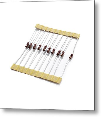 Resistors Metal Print by Science Photo Library
