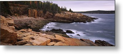 Rock Formations At The Coast, Monument Metal Print by Panoramic Images