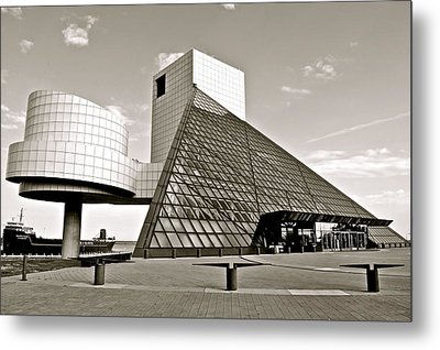 Rock Hall Of Fame Metal Print by Frozen in Time Fine Art Photography
