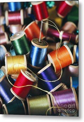 Rolls Or Yarn Metal Print by Iris Richardson