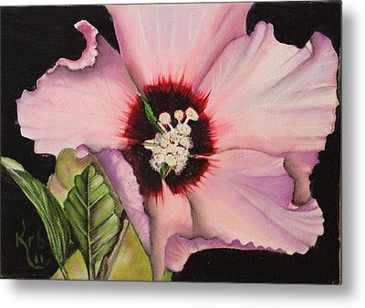 Rose Of Sharon Metal Print by Karen Beasley