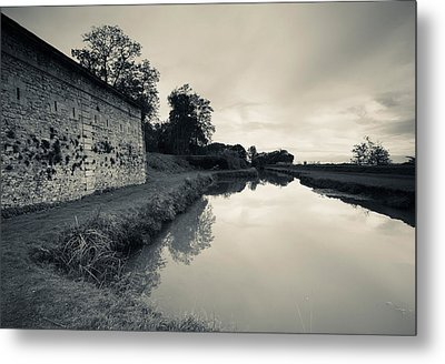 Ruins Of River Fort Designed By Vauban Metal Print by Panoramic Images