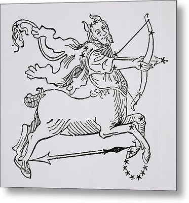 Sagittarius An Illustration Metal Print by Italian School