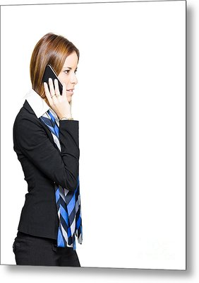 Sales And Marketing Business Woman Metal Print by Jorgo Photography - Wall Art Gallery