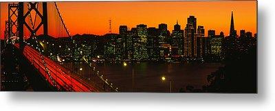 San Franscisco Ca Metal Print by Panoramic Images