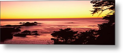 Sea At Sunset, Point Lobos State Metal Print by Panoramic Images