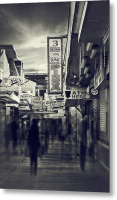 Seaside Boardwalk Metal Print by Kim Zier