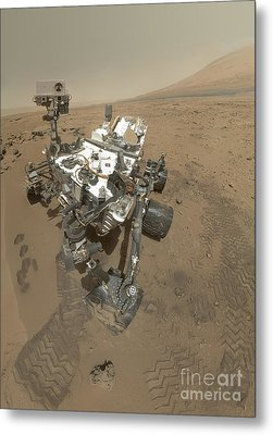 Self-portrait Of Curiosity Rover Metal Print by Stocktrek Images