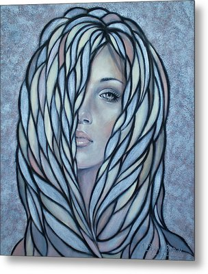 Silver Nymph 021109 Metal Print by Selena Boron