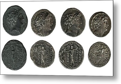 Silver Tetradrachm Coins Metal Print by Photostock-israel