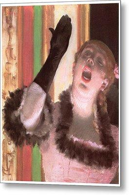 Singer With A Glove Metal Print by Edgar Degas