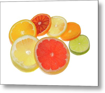 Slices Of Citrus Fruit Metal Print by Cordelia Molloy