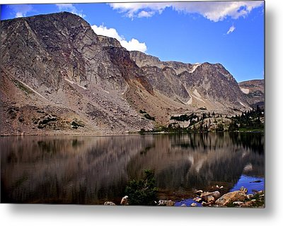Snowy Mountain Loop 1 Metal Print by Marty Koch