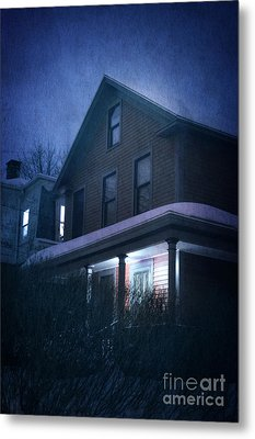 Snowy Night Metal Print by HD Connelly