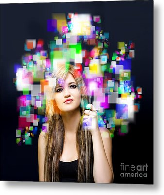 Social Media And Networking Metal Print by Jorgo Photography - Wall Art Gallery