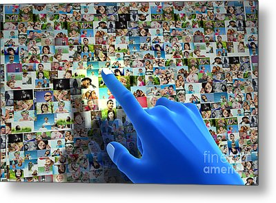Social Media Network Metal Print by Michal Bednarek