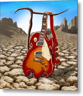 Soft Guitar II Metal Print by Mike McGlothlen