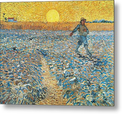 Sower Metal Print by Vincent van Gogh