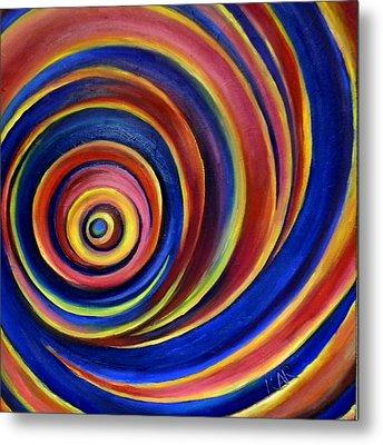 Spirals Metal Print by Art by Kar