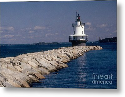Spring Point Ledge Lighthouse Metal Print by Bruce Roberts