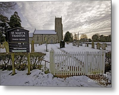 St Mary's Tharston Metal Print by Darren Burroughs
