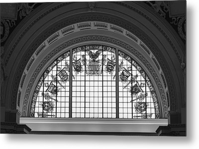Stained Glass - Library Of Congress Metal Print by Mountain Dreams