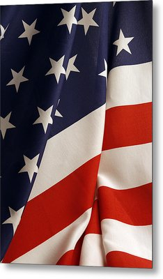 Stars And Stripes Metal Print by Les Cunliffe
