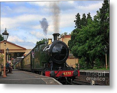 Steam Locomotive 4270 Arrives At Toddington Station Metal Print by Louise Heusinkveld
