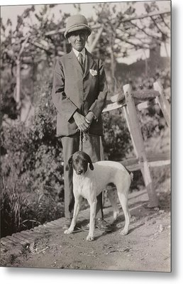 Stein With His Dog Metal Print by British Library