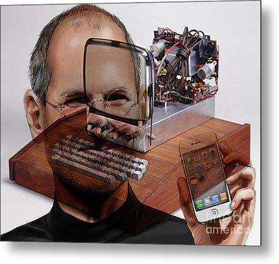 Steve Jobs Metal Print by Marvin Blaine