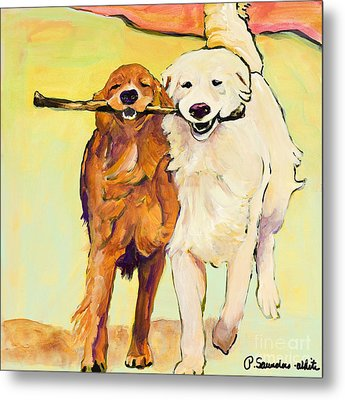 Stick With Me Metal Print by Pat Saunders-White