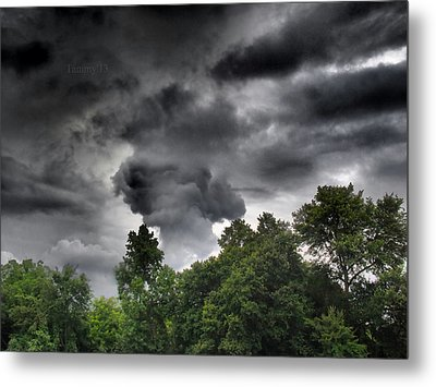 Storm Chasers  Metal Print by Tammy Cantrell