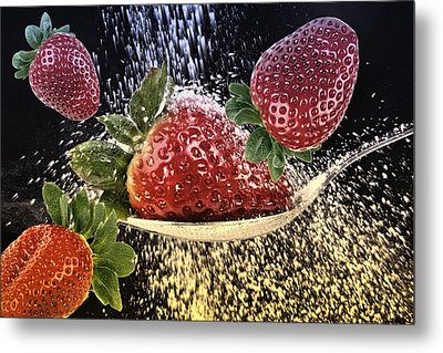 Strawberries Metal Print by Manfred Lutzius