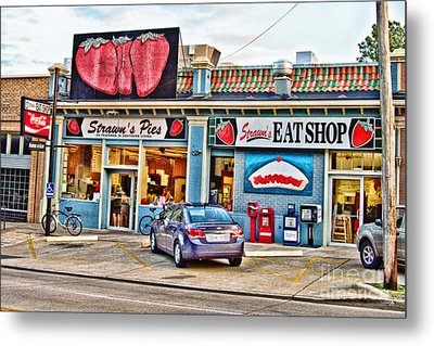 Strawn's Eat Shop Metal Print by Scott Pellegrin