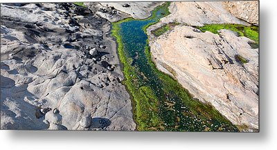 Stream Flowing Through A Rocky Metal Print by Panoramic Images