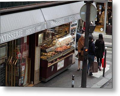Street Scenes - Paris France - 011336 Metal Print by DC Photographer