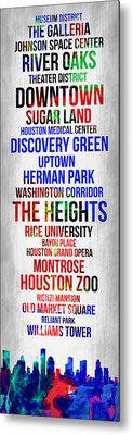 Streets Of Houston 1 Metal Print by Naxart Studio