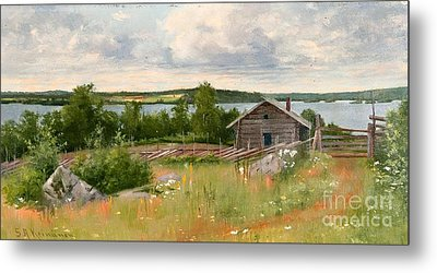 Summer Landscape Metal Print by Celestial Images