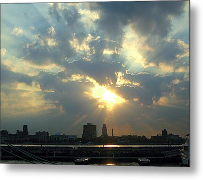 Sunrise Over Philadelphia Metal Print by Shoal Hollingsworth