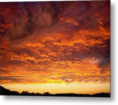 Sunset Ablaze Metal Print by James Hammen