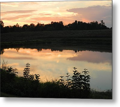 Sunset Reflection Metal Print by Linda Brown