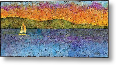 Sunset Sail Metal Print by Elaine Allen