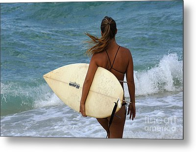 Surfer Girl Metal Print by Bob Christopher
