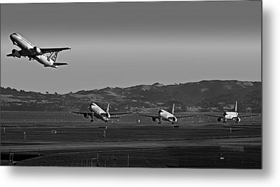 Takeoff From Aukland Metal Print by Mountain Dreams
