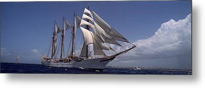 Tall Ship In The Sea, Puerto Rico Metal Print by Panoramic Images