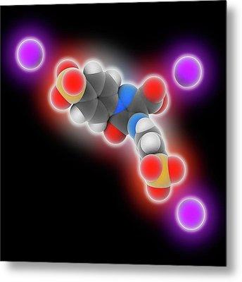 Tartrazine Molecule Metal Print by Laguna Design