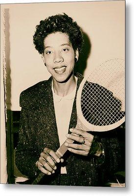 Tennis Great Althea Gibson 1956 Metal Print by Mountain Dreams